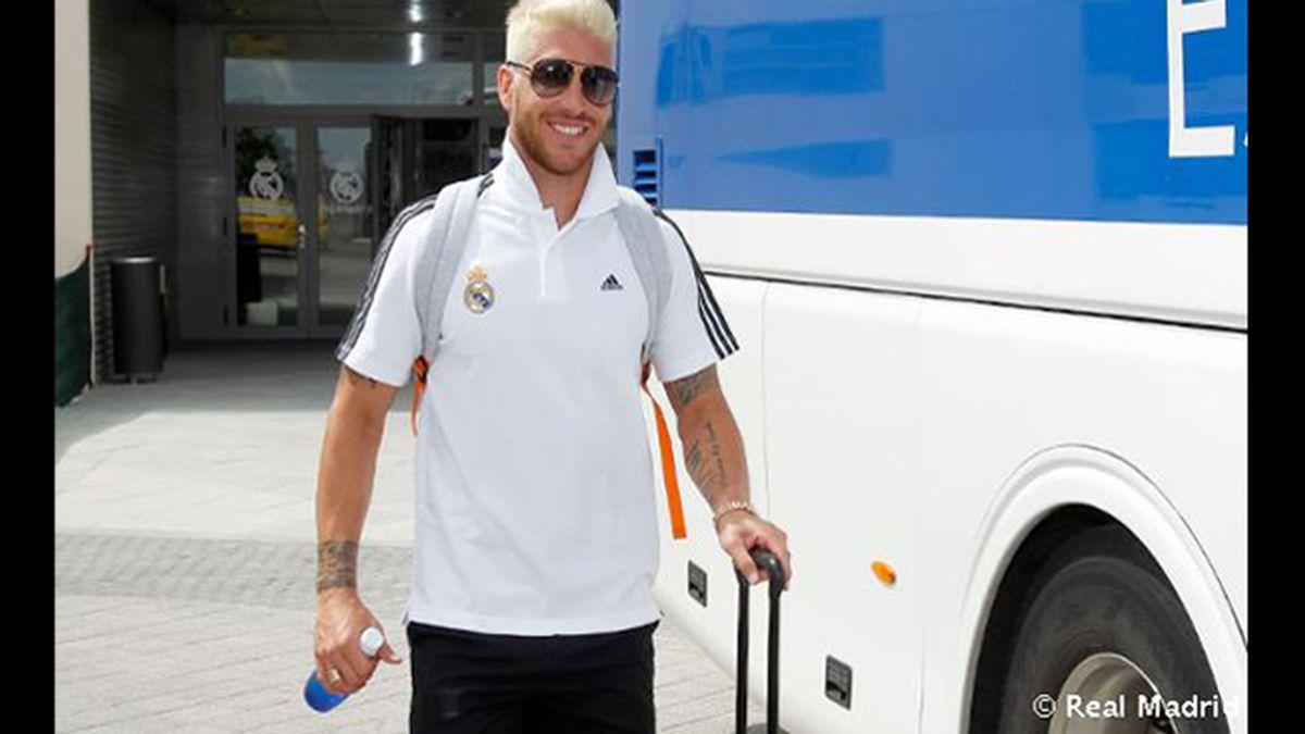 Sergio Ramos estrena nuevo 'look' para la gira americana