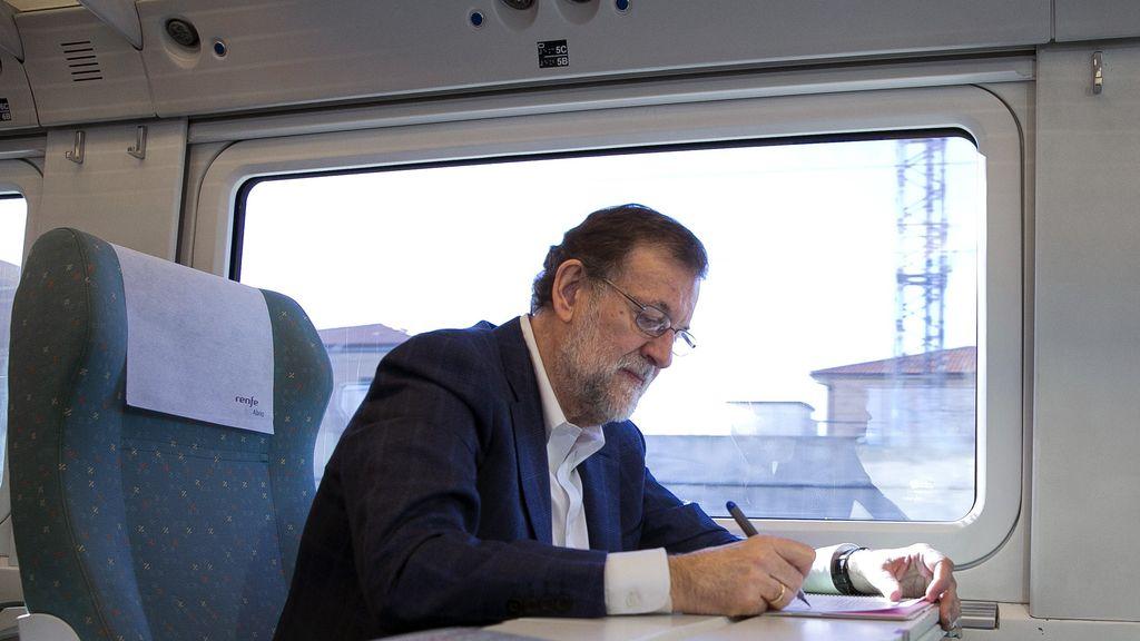 Rajoy en el ave