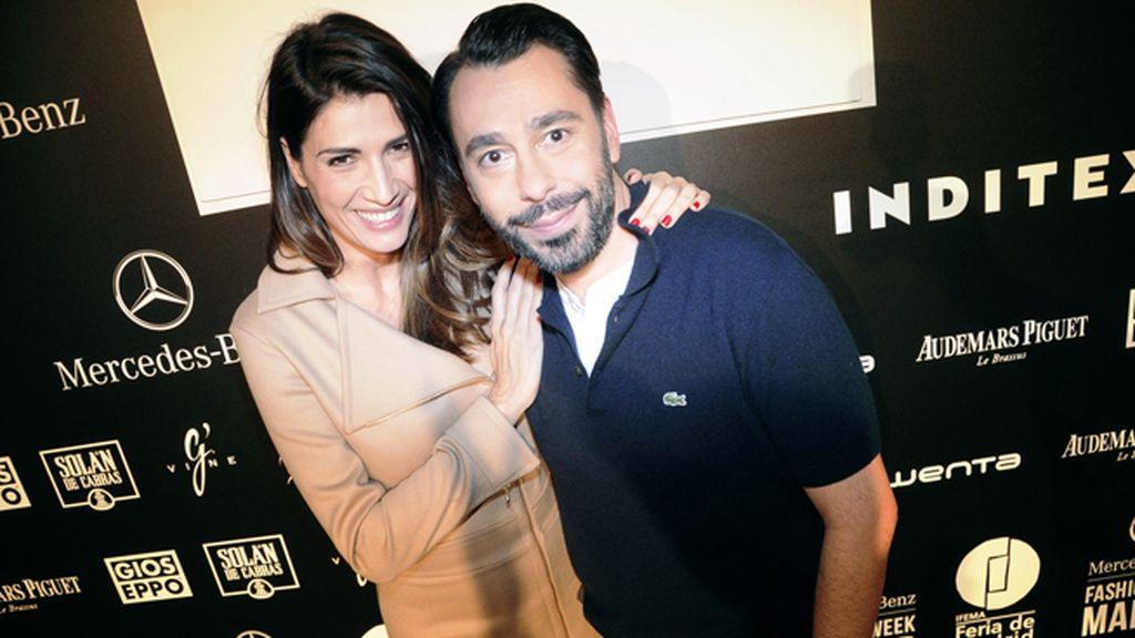 Elia Galera y Juanjo Oliva en el kissing room