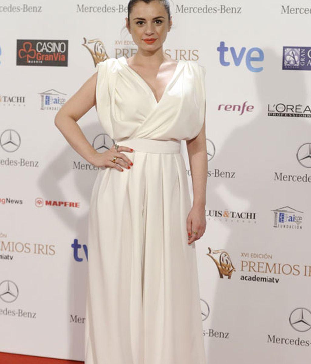 La actriz Miren Ibargueren fue otra de los asistentes a los premios