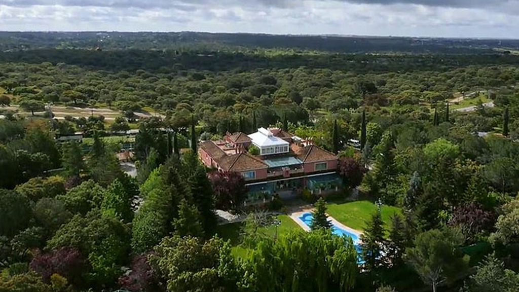Vista aérea de la mansión de Moreno
