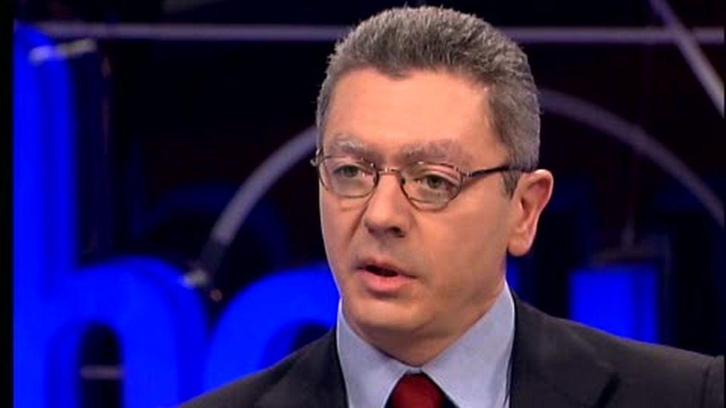 """Gallardón, en 'Hoy', reconoce una """"distancia personal"""" con Aguirre"""