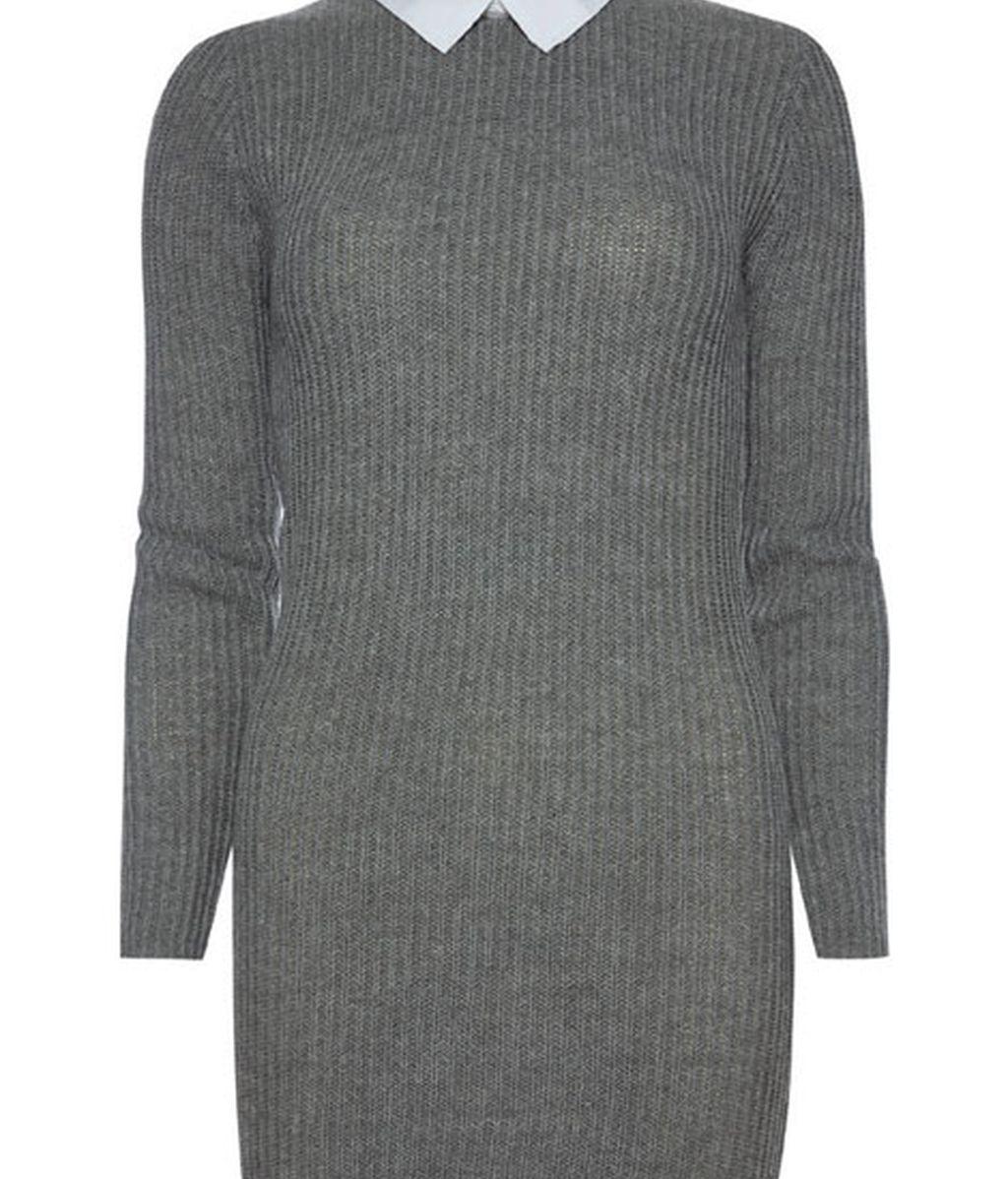 En gris con cuello