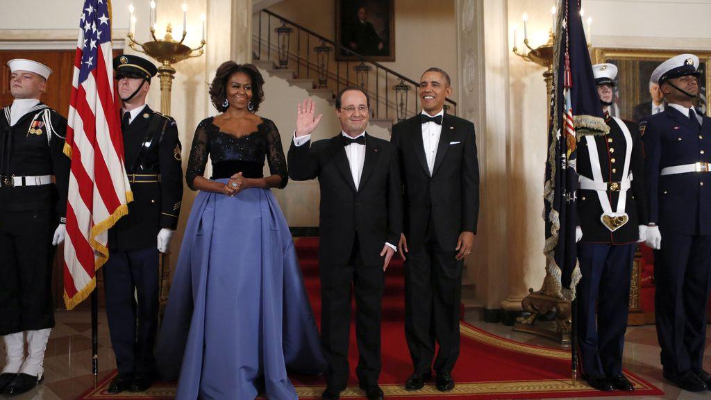 Cena de gala en honor de Hollande en la Casa Blanca