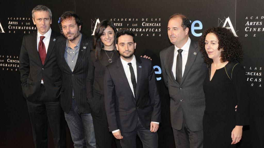 """Parte del equipo de """"Lo imposible"""", que entre todos suman 14 nominaciones a los Goya"""