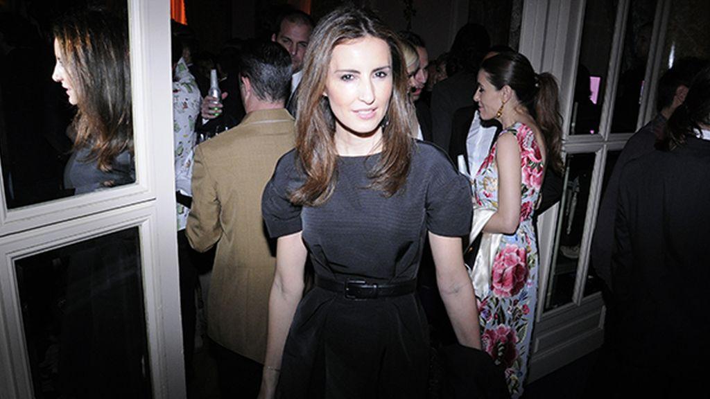 Mónica de Tomás con vestido del diseñador español afincado en Londres Daniel Cerdán
