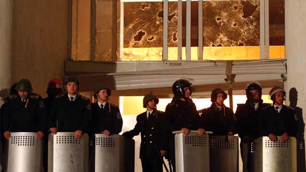 La policía toma Moldavia