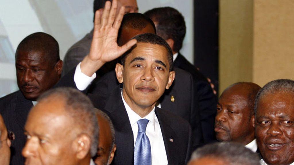 Barak Obma en la Cumbre de las Américas