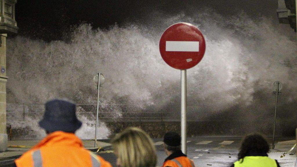 Un nuevo temporal azota la costa cantábrica