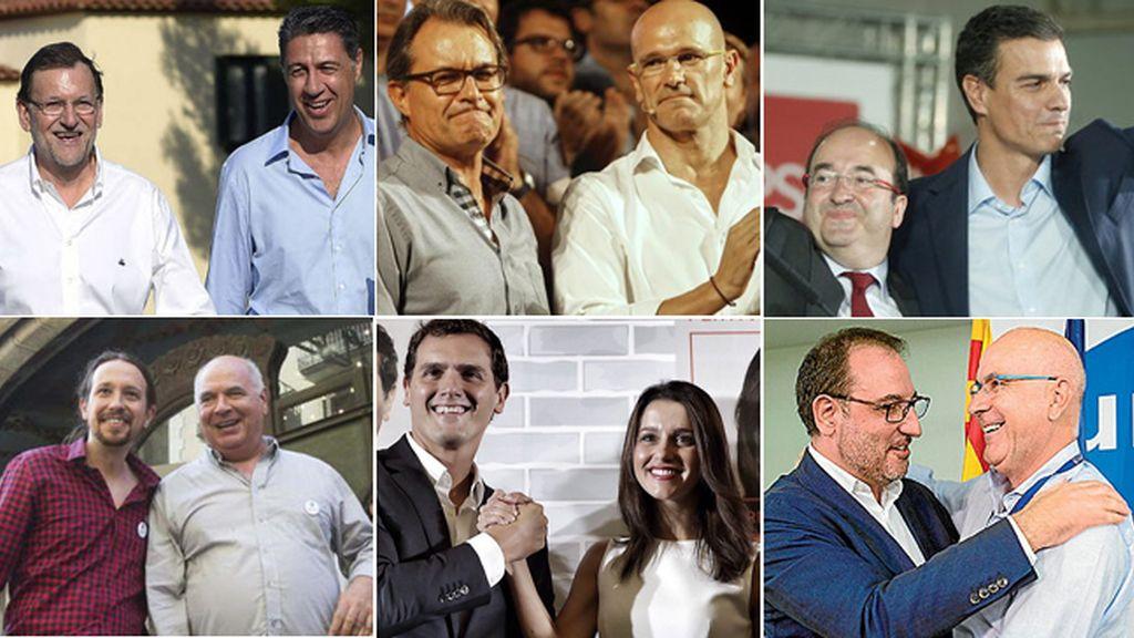 Los líderes nacionales se vuelcan con el cierre de campaña en Cataluña