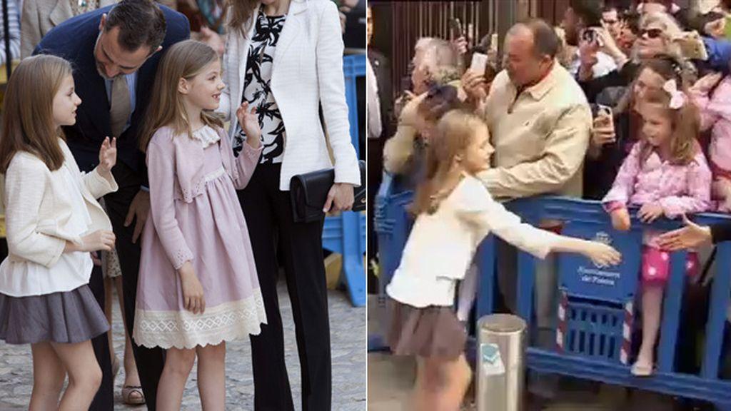 La espontaneidad de la princesa Leonor con las niñas mallorquinas