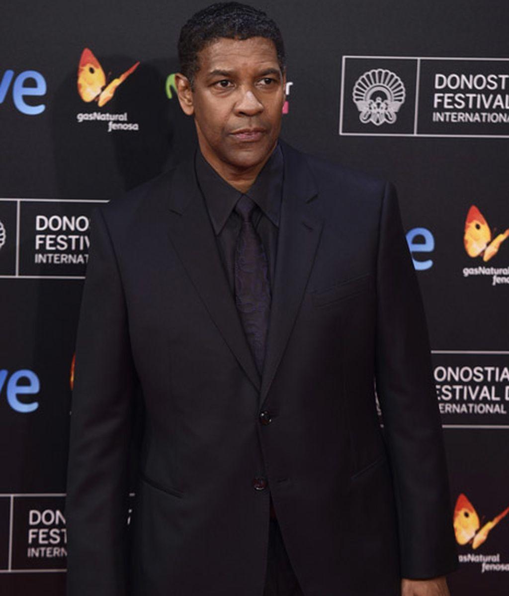 Denzel Washington acudió a recoger su premio Donostia