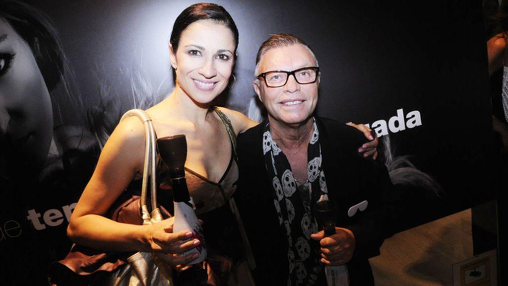 Silvia Jato y el estilista Fran Larrañaga