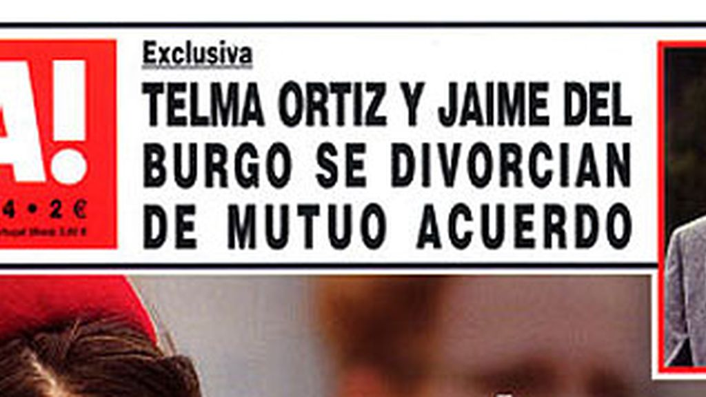 Telma Ortiz y Jaime del Burgo
