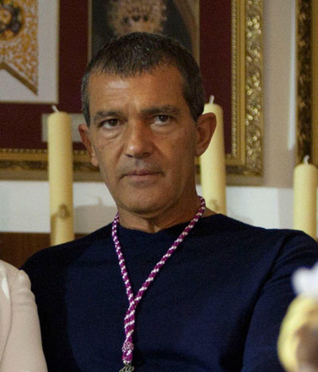 Antonio Banderas, devoto y cofrade del Cristo Cautivo