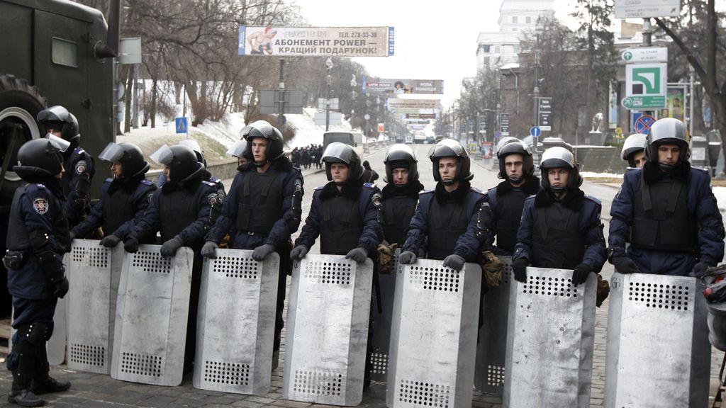 Reconocimiento policial en Kiev