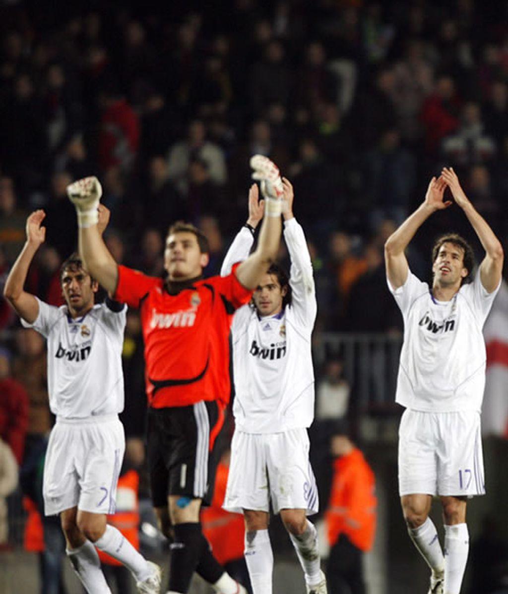 El Real Madrid celebra la victoria (2007)
