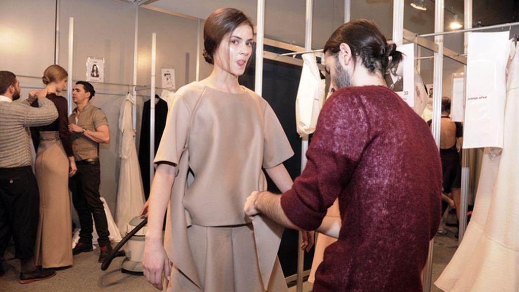 Alba Galocha, una de nuestras modelos más solicitadas, ha desfilado también para Juanjo Oliva