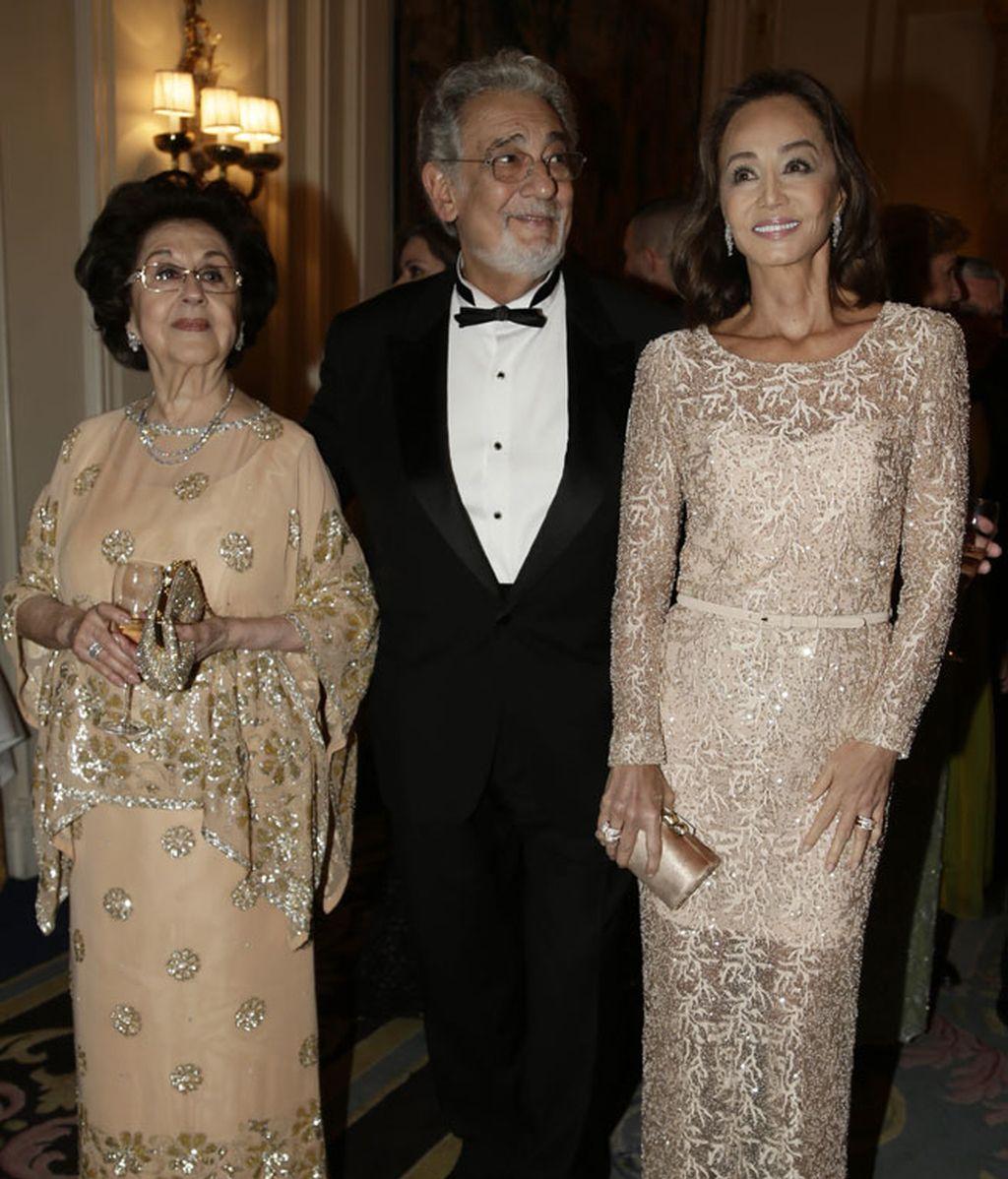 Isabel Preysler quiso acompañar a Plácido Domingo y a su mujer en este homenaje