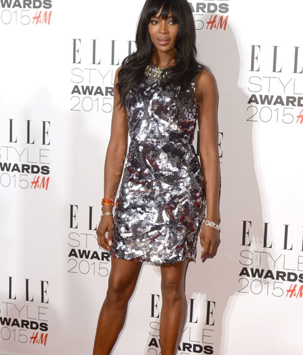 Prudente Naomi Campbell en la 'white carpet'