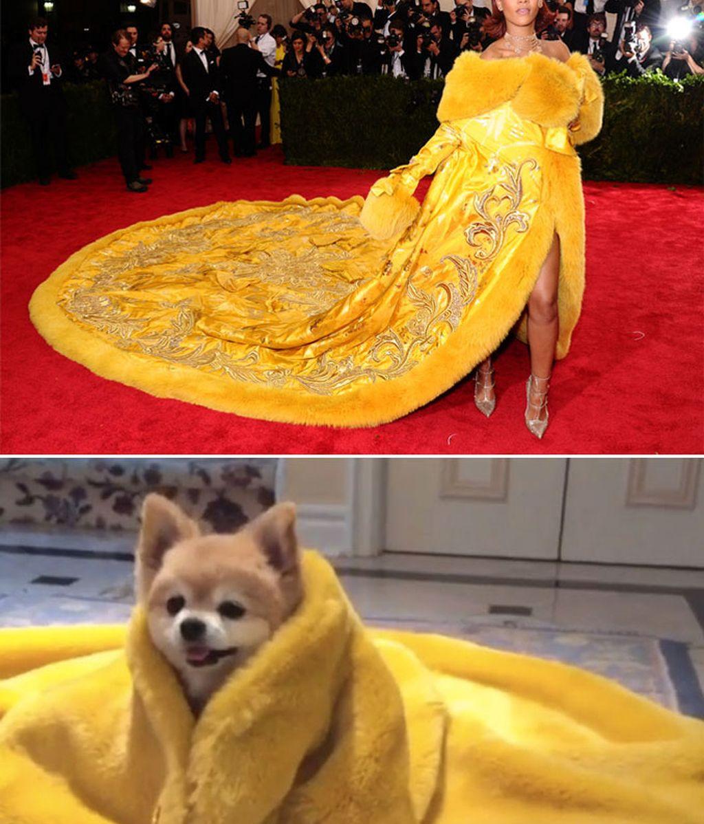 El humor con el vestido de Rihanna en el MET se hizo viral en las redes sociales