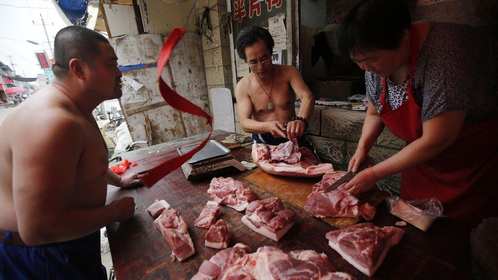Mercado de carne en China