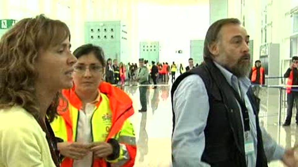 Simulacro en el aeropuerto del Prat