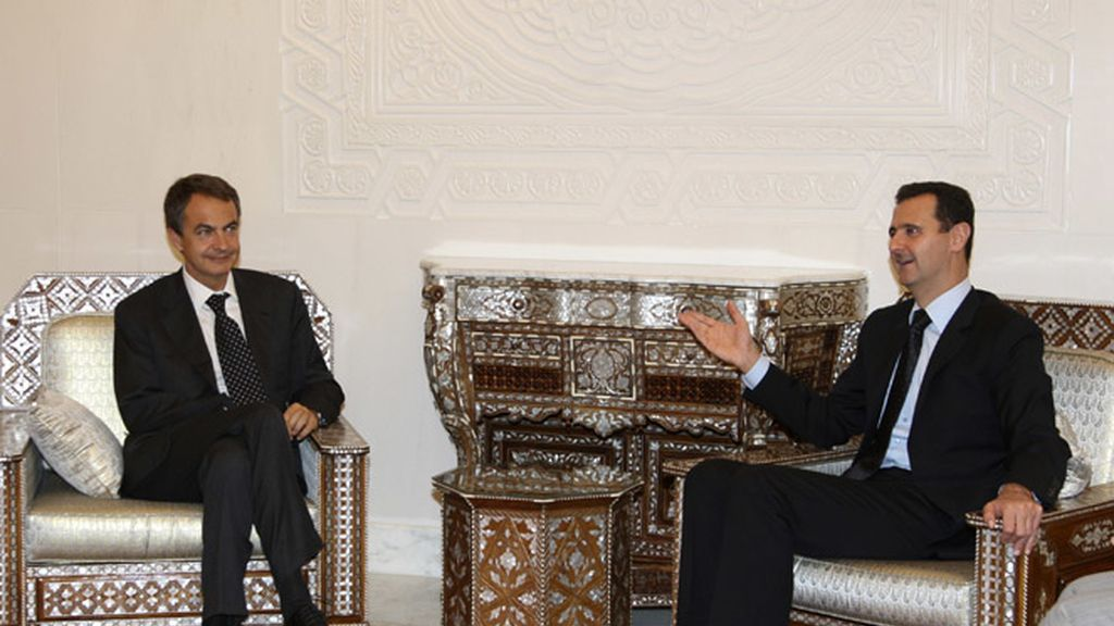Zapatero en Damasco con el presidente sirio Bashar al-Assad