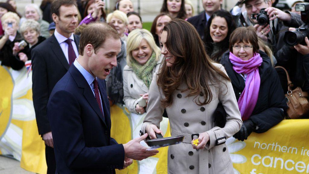 Kate Middleton ensaya como ama de casa