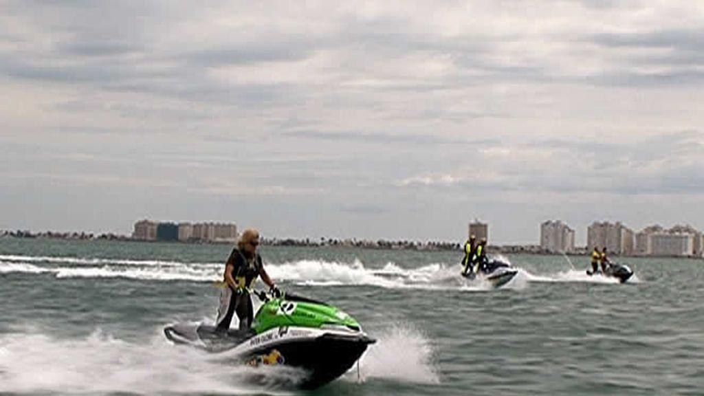 Con la moto acuática en el Mar Menor