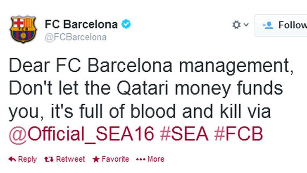 Twitter Barça hackeada