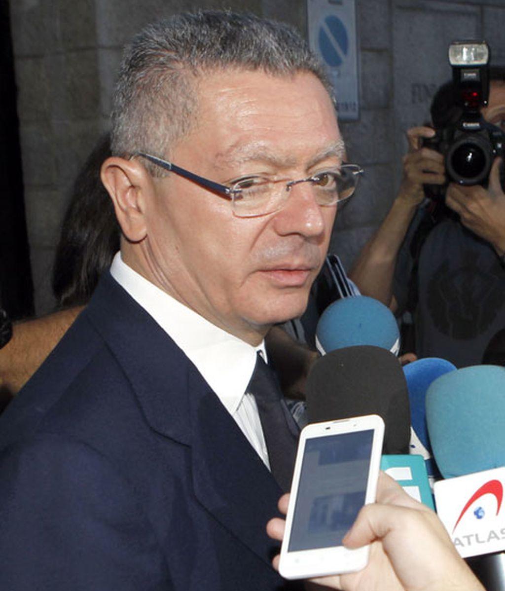 Alberto Ruíz Gallardón dedicó unas palabras de cariño a Álvarez ante los medios