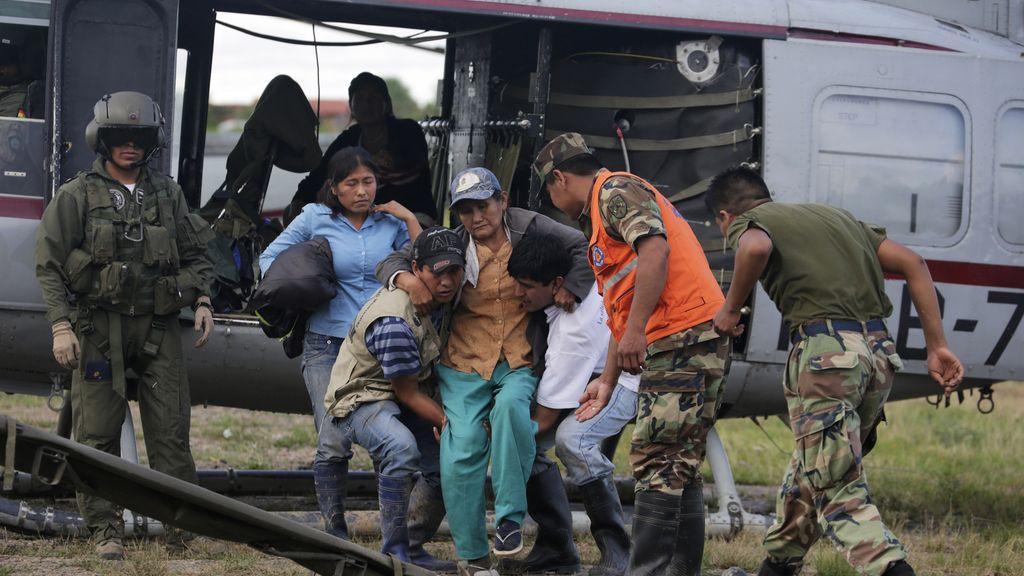 Evacuados por las lluvias en Bolivia