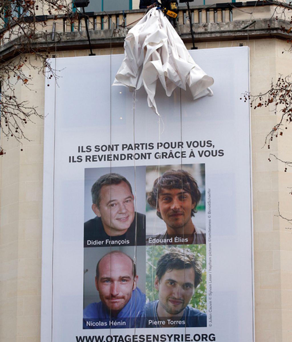 Liberados cuatro periodistas franceses secuestrados en Siria en junio de 2013