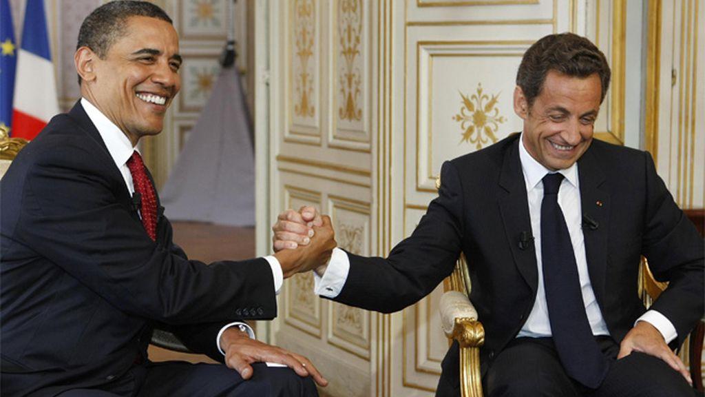 Obama y Sarkozy