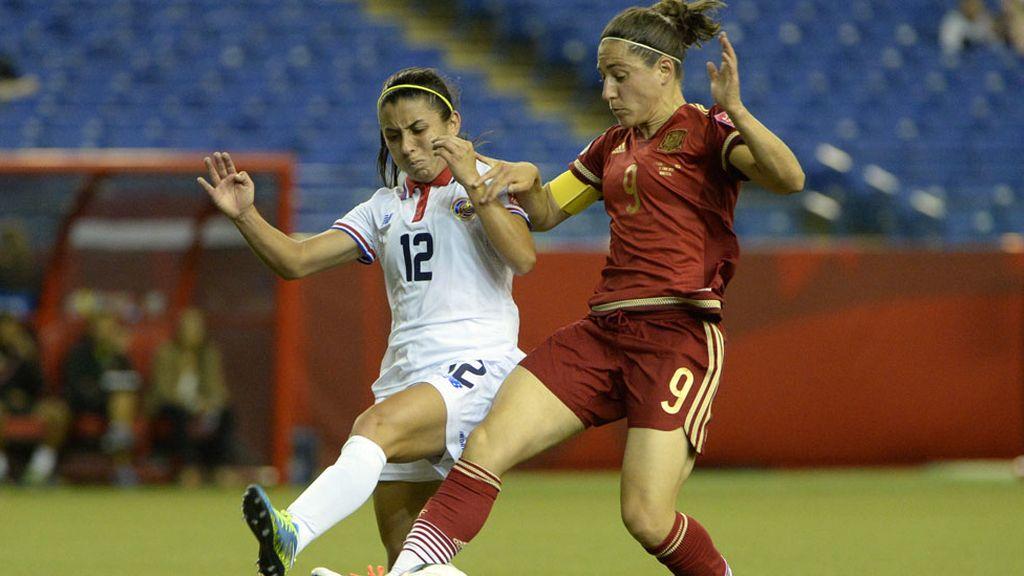 España empata (1-1) ante Costa Rica en Canadá 2015