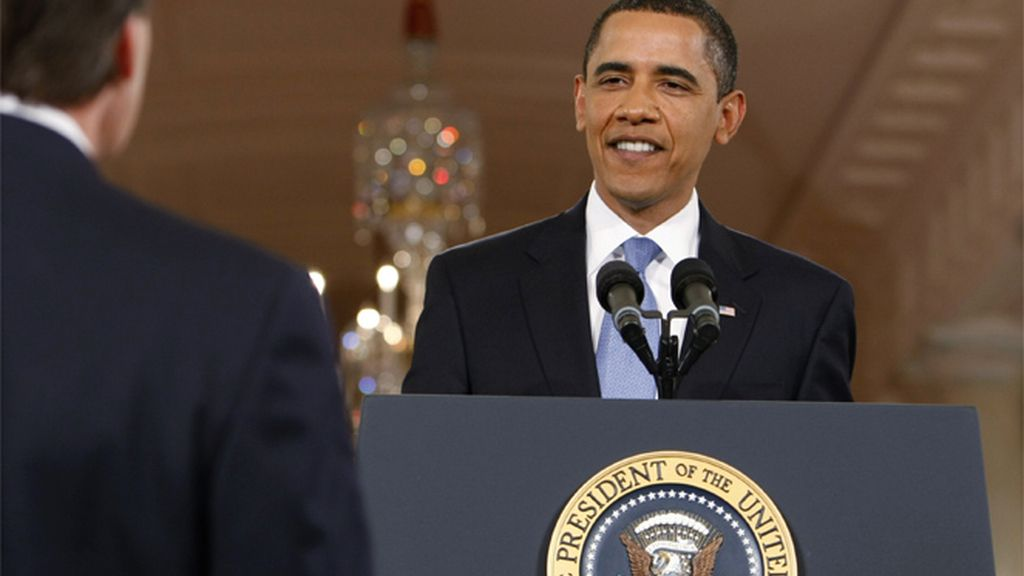 Obama durante la conferencia de prensa