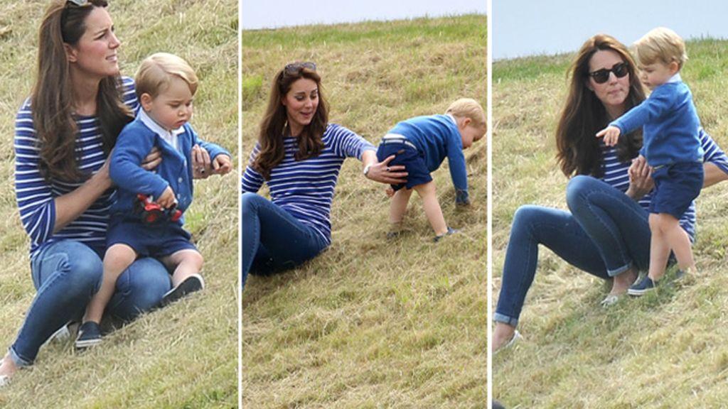 Kate Middleton en el polo con el príncipe George