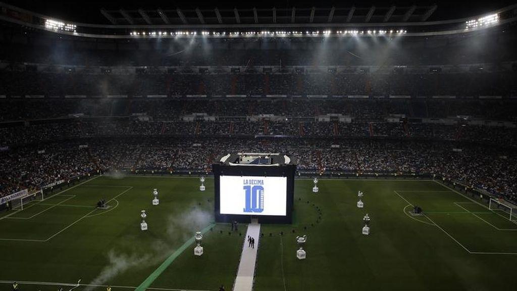 Estadio Santiago Bernabeu pantalla