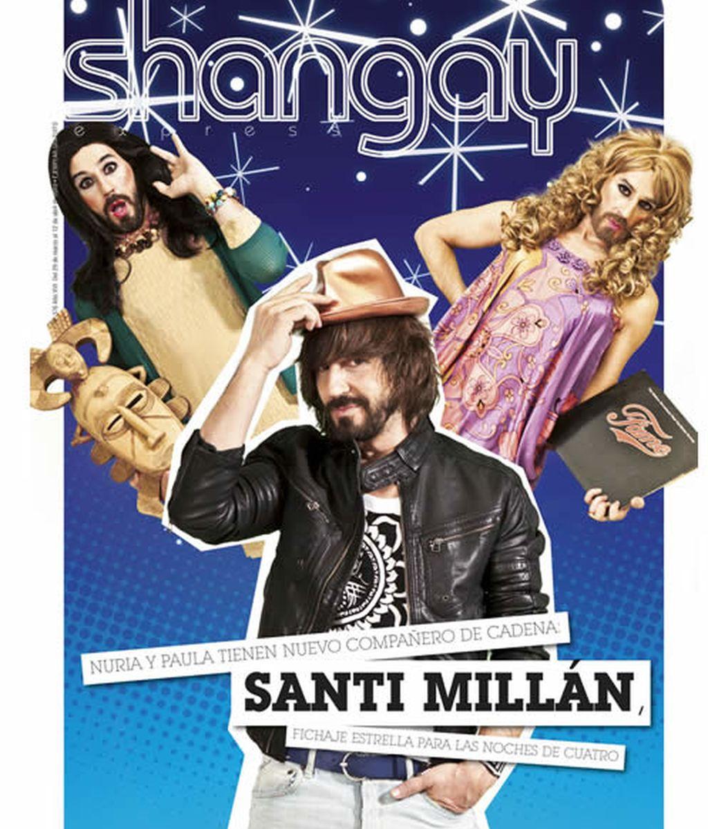 Santi Millán, en la portada de Shangay