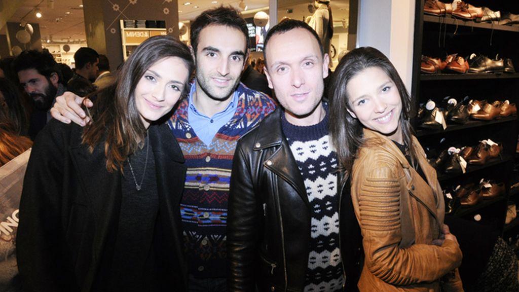 Bárbara García, Álvaro Gutiérrez, Gorka Postigo y Alba