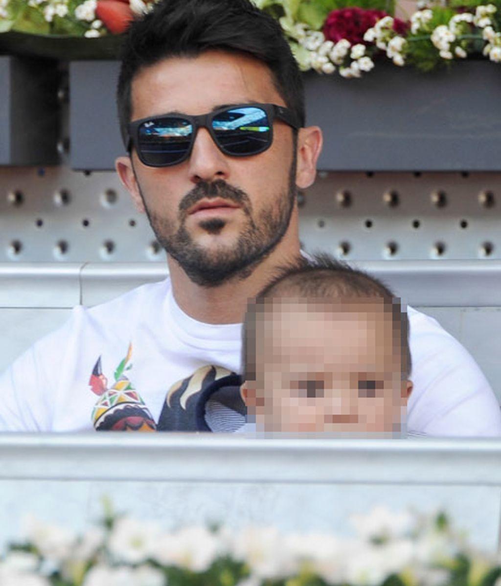 David Villa no quiso perderse el acto de sus amigos Iker y Rafa