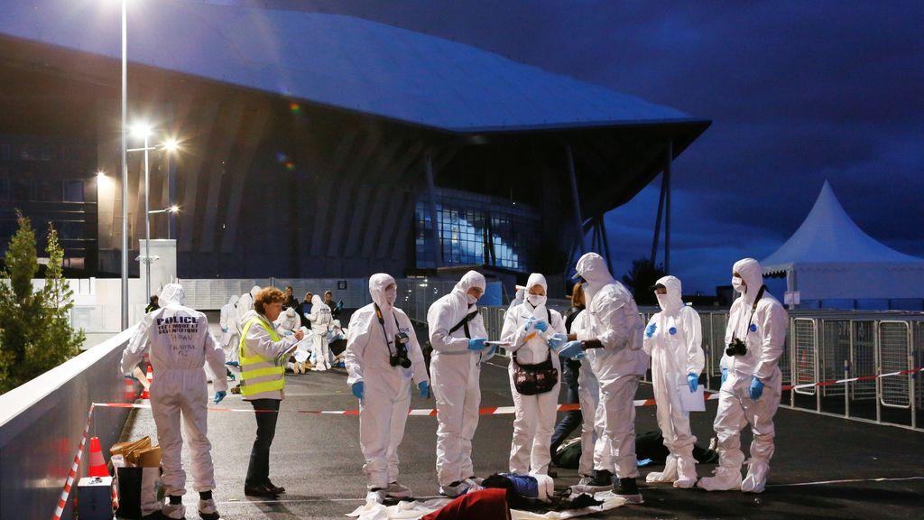Así fue el simulacro de seguridad a las puertas del estadio