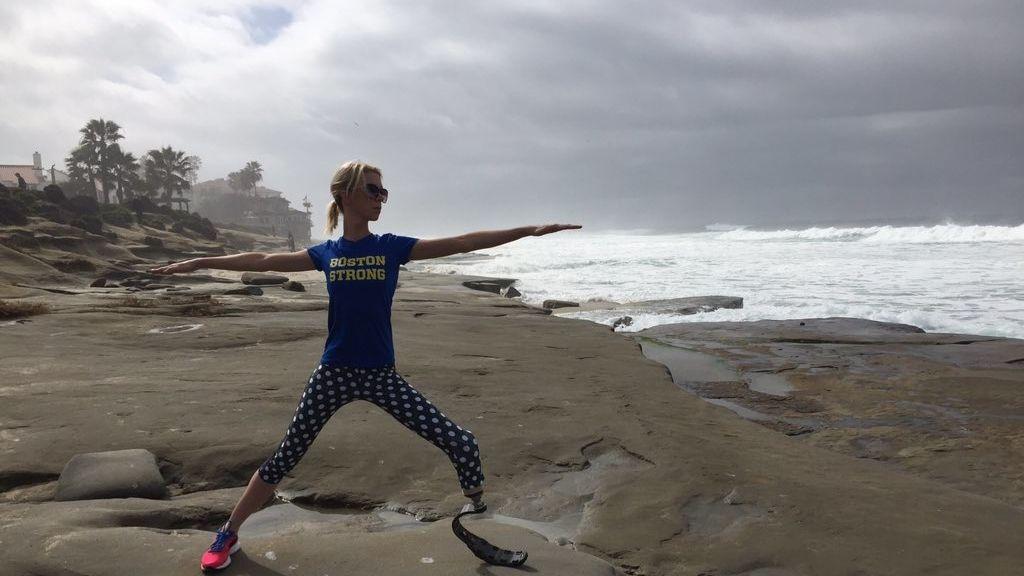 Perdió la pierna en la maratón de Boston