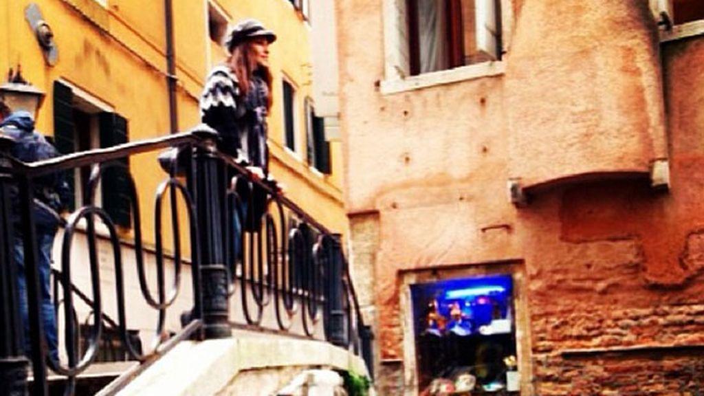 Paula Echevarría ha disfrutado de las vistas venecianas