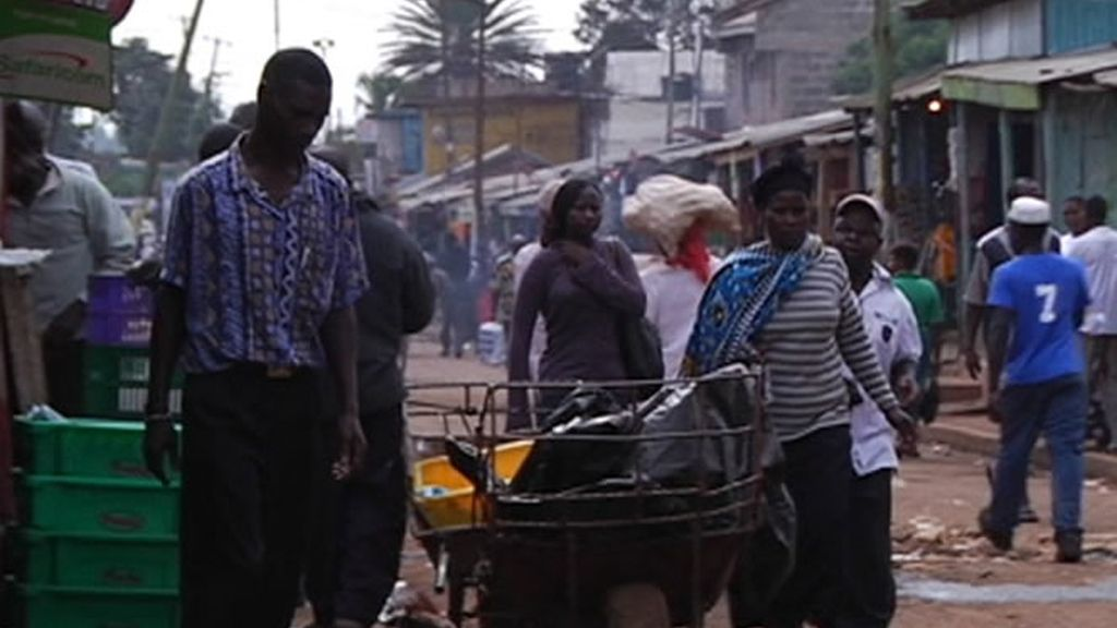 Las calles en Nairobi están llenas de vida