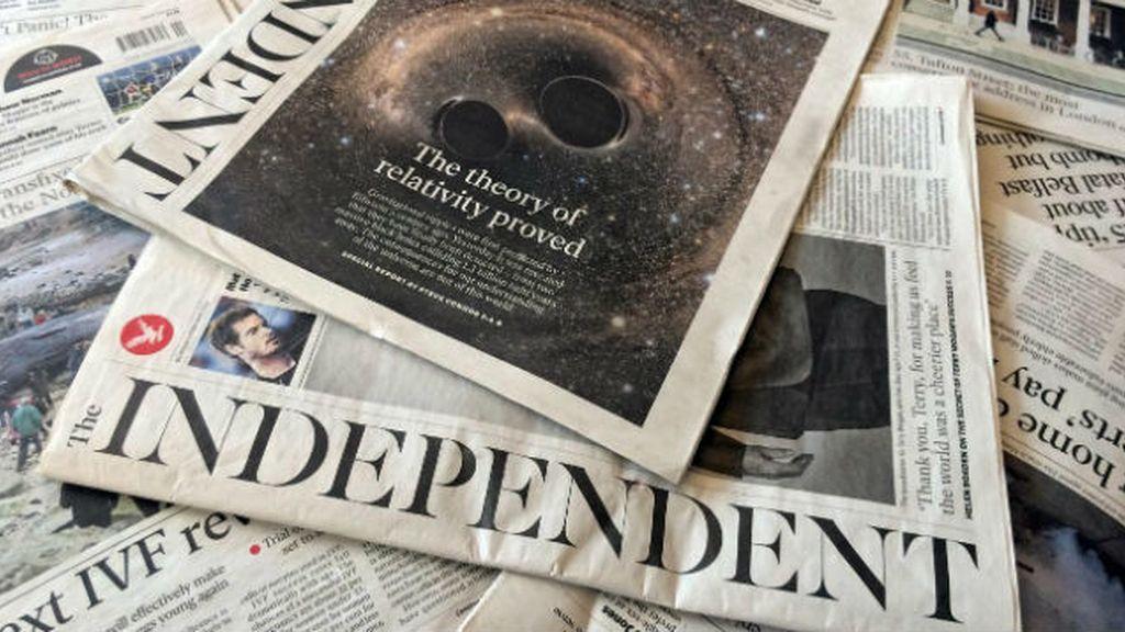 """Última edición en papel de """"The Independent"""""""