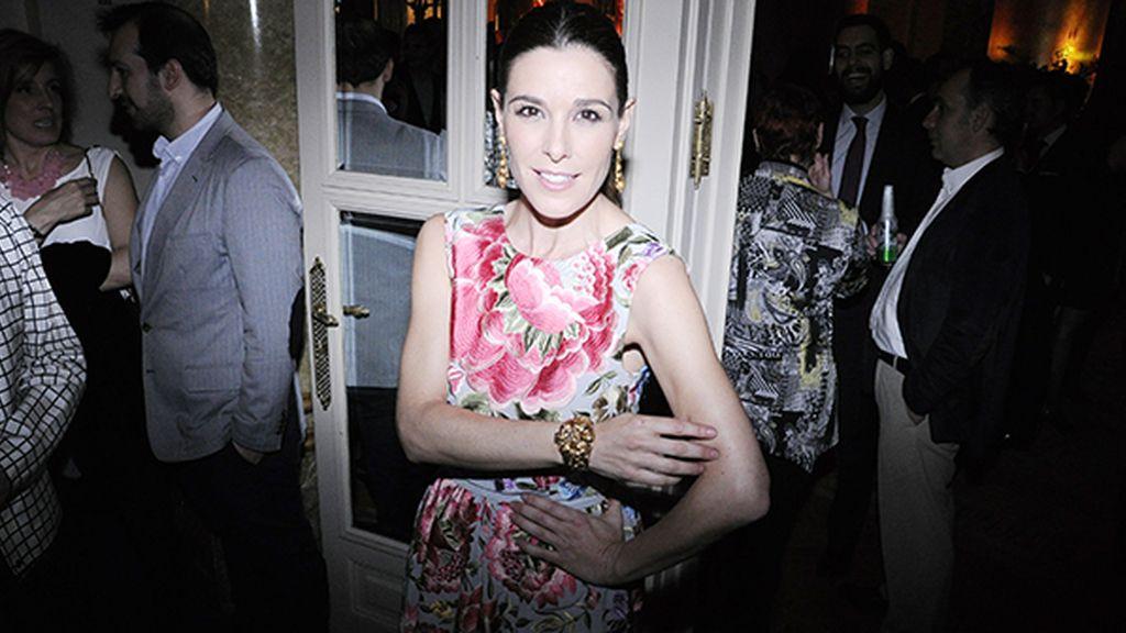 Raquel Sánchez Silva con vestido de Duyos y joyas de Bárcenas