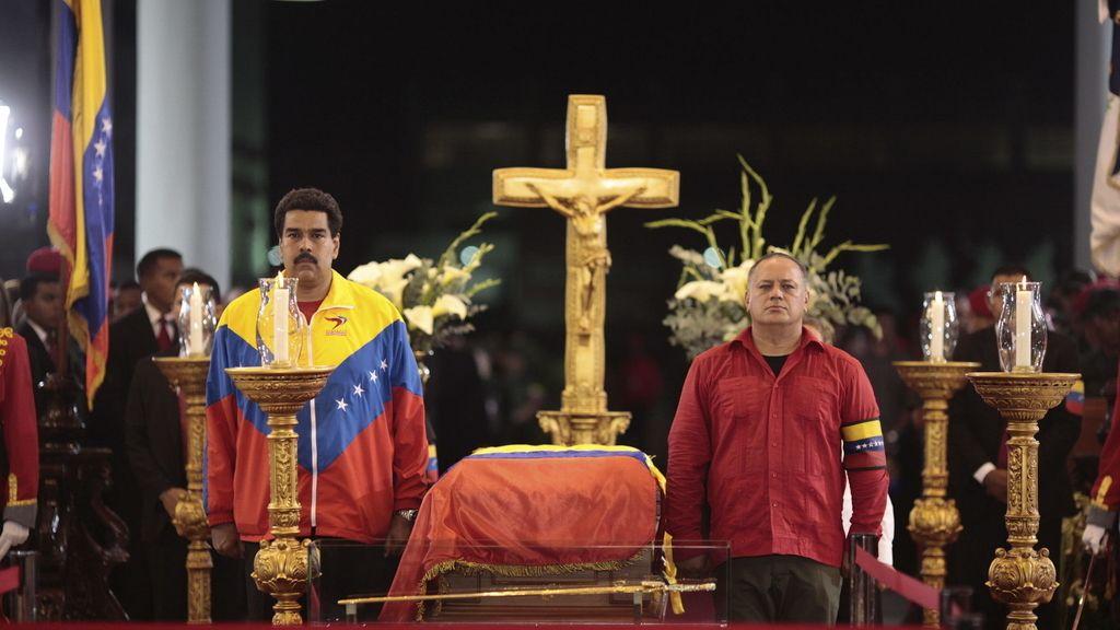 Capilla ardiente de Chávez. Foto: EFE
