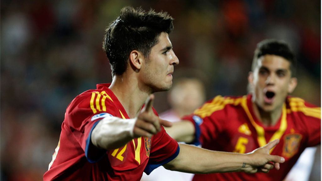 Álvaro Morata con la selección Sub21